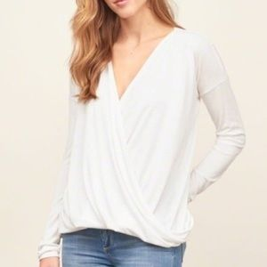 Abercrombie and Fitch wrap top size s